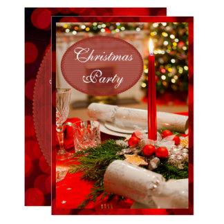 Christmas Crackers & Candles 13 Cm X 18 Cm Invitation Card