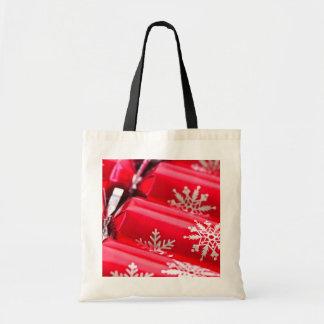 Christmas crackers canvas bag