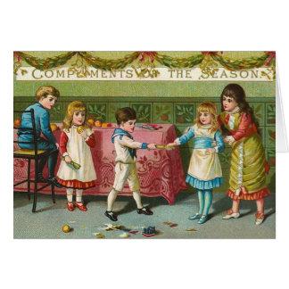 Christmas Crackers Greeting Card