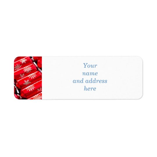 Christmas crackers return address label