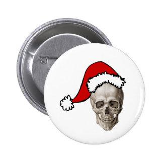 Christmas Cranium Pinback Buttons
