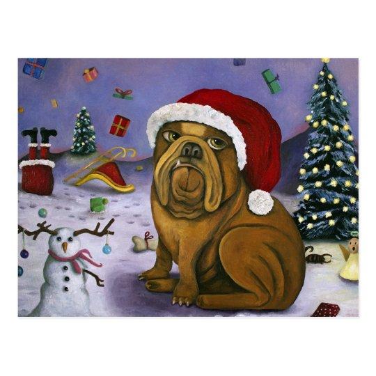 Christmas Crash Postcard
