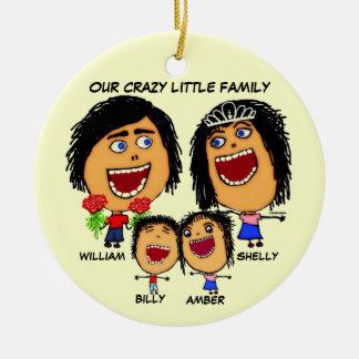 Christmas Crazy Family Cartoon Christmas Ornament
