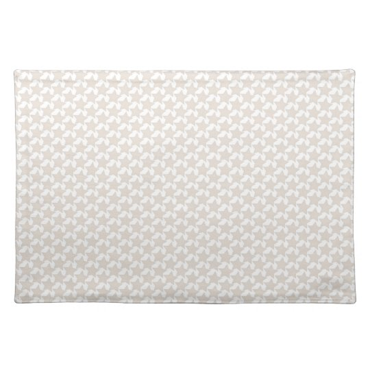 Christmas, cream and white place mat