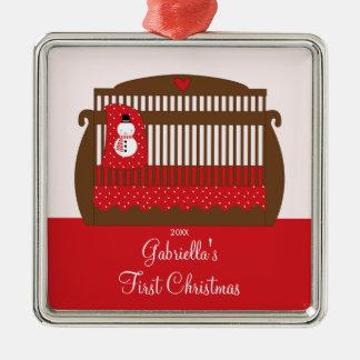 Christmas Crib Baby's First Christmas Ornament