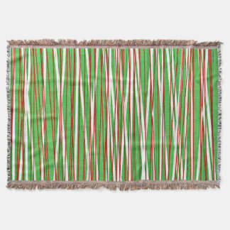 Christmas Crisscross, red and green Throw Blanket