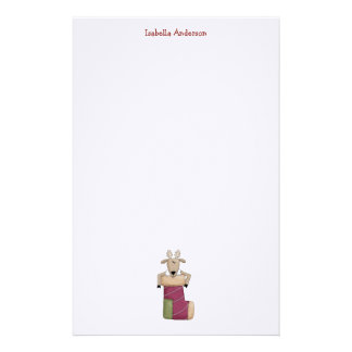 Christmas Critters · Reindeer Stocking Stationery