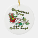 christmas croc a little hop frogs and crocodile christmas ornaments