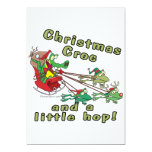 christmas croc a little hop frogs and crocodile invites