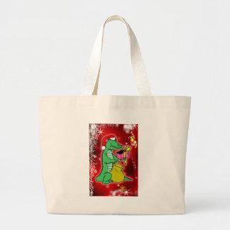 Christmas Crocodile Canvas Bag