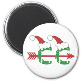 Christmas Cross Country Running Fridge Magnets