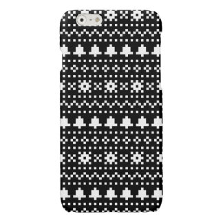 'Christmas Cross-Stitch In B&W #1' iPhone 6 Plus Case