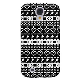 'Christmas Cross-Stitch In B&W #2' Galaxy S4 Case