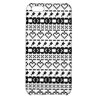 'Christmas Cross-Stitch In B&W #2' iPhone 5C Case