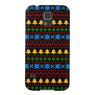 'Christmas Cross-Stitch In Colour #1' Cases For Galaxy S5