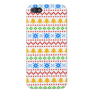 'Christmas Cross-Stitch In Colour #1' iPhone 5 Covers