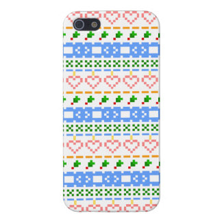 'Christmas Cross-Stitch In Colour #2' Case For The iPhone 5