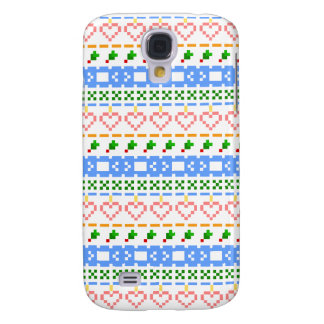 'Christmas Cross-Stitch In Colour #2' Galaxy S4 Case