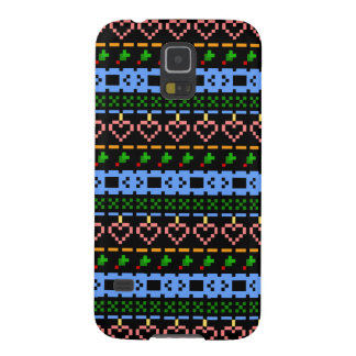 'Christmas Cross-Stitch In Colour #2' Galaxy S5 Cases