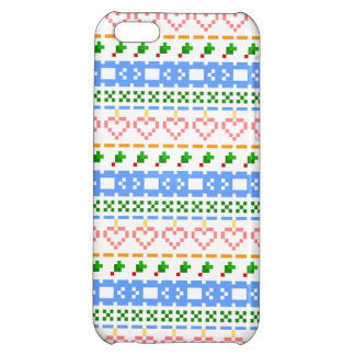 'Christmas Cross-Stitch In Colour #2' iPhone 5C Cover