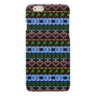 'Christmas Cross-Stitch In Colour #2' iPhone 6 Plus Case