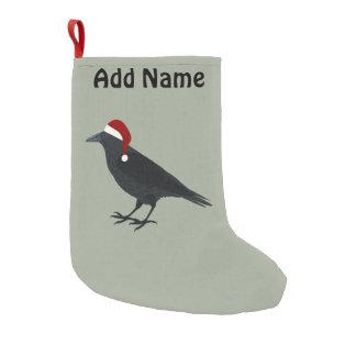 Christmas Crow Small Christmas Stocking