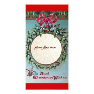 CHRISTMAS CROWN WITH MISTLETOES CARD