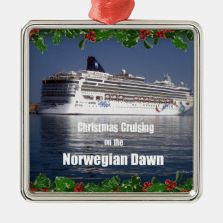 Christmas Cruising on the Norwegian Dawn Christmas Ornament