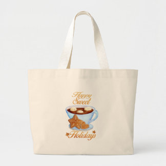 Christmas Cup of Hot Choco Large Tote Bag