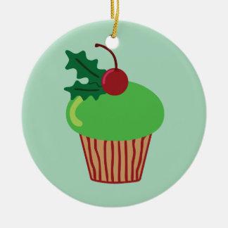 Christmas Cupcake Christmas Ornament