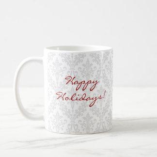 Christmas Cupcake Damask Mug