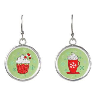 Christmas Cupcake & Hot Chocolate Holiday Earrings