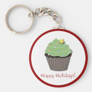 Christmas Cupcake Keychain