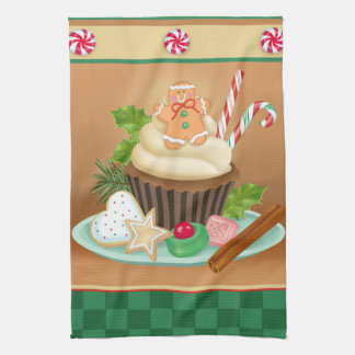 Christmas Cupcake Kitchen Towel