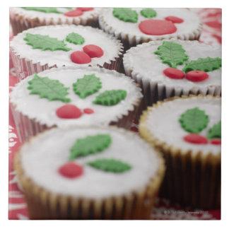 Christmas cupcakes ceramic tile