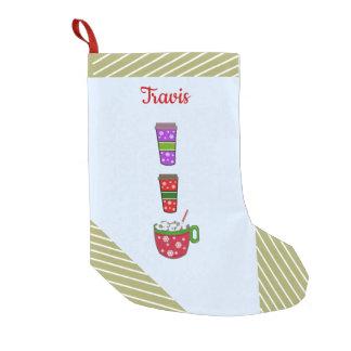 Christmas Cups of Cheer Small Christmas Stocking