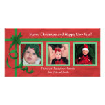 Christmas Curls Triple Treasure Photo Cards