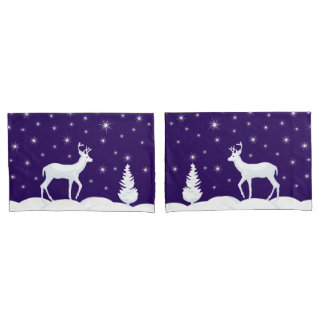 Christmas Custom Name Pair of Pillowcases Reversed