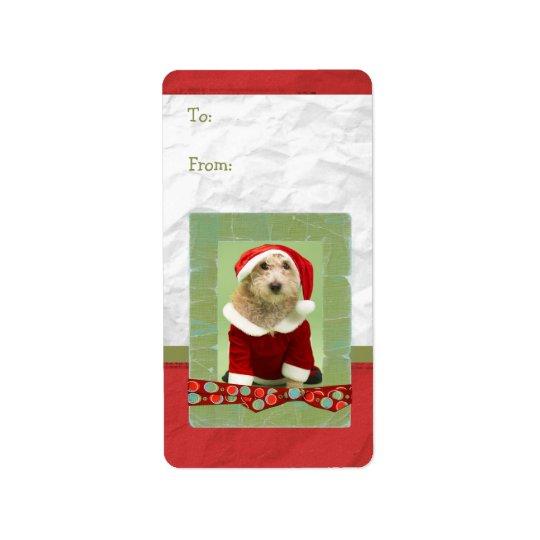 Christmas Custom Photo Frame Gift Tag Address Label