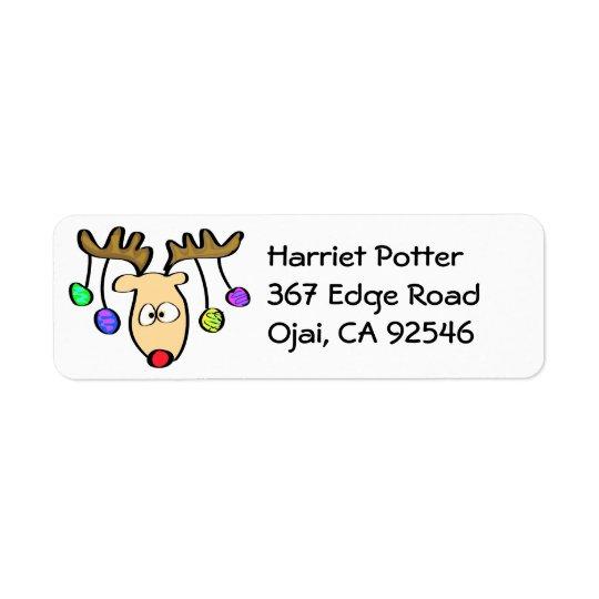 Christmas Cute Cartoon Red Nose Reindeer