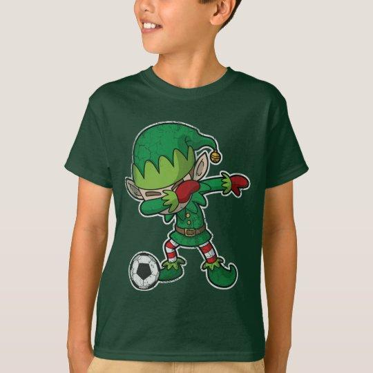 Christmas Dabbing Elf Soccer T-Shirt