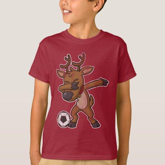 Christmas Dabbing Reindeer Soccer T-Shirt