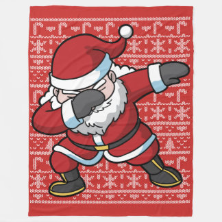Christmas Dabbing Santa Clause Dab Fleece Blanket