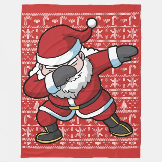 Christmas Dabbing Santa Clause Dab Fleece Blanket