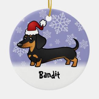 Christmas Dachshund (add your pets name) Christmas Ornament