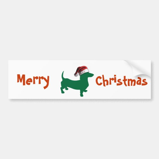 Christmas Dachshund Bumper Sticker