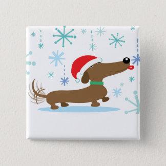 Christmas Dachshund button