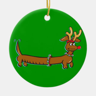 Christmas Dachshund Christmas Ornament