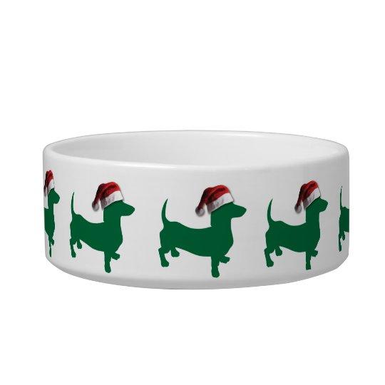 Christmas Dachshund Doxies Bowl