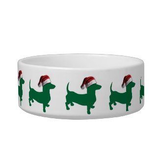 Christmas Dachshund Doxies Pet Bowls